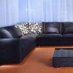 Черный цвет в дизайне мебели