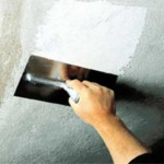 Грунтовка и шпаклевка потолка