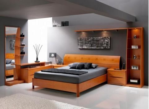 современных стиль интерьера в спальне