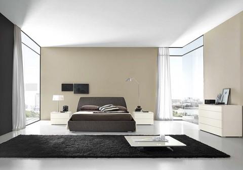 контраст в спальне хай тек стиль