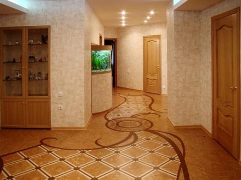 пробковый пол в коридоре фото