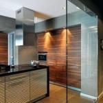 Двери и перегородки из стекла и МДФ в интерьере жилого дома