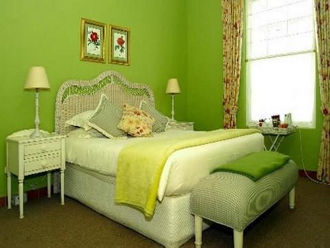 зеленый цвет комнаты