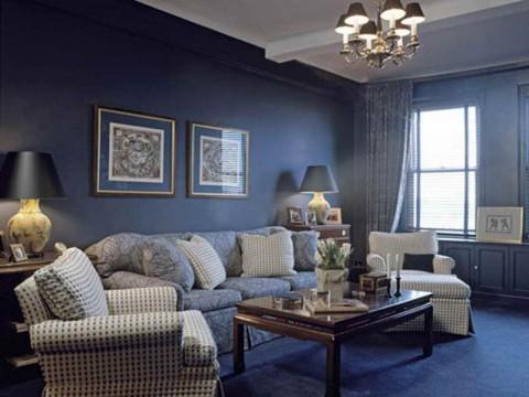 Светло-синий цвет комнаты