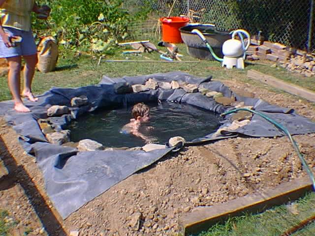 Как построить маленький пруд на даче своими руками