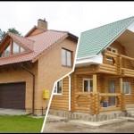 Постройка частного дома: дерево или кирпич?