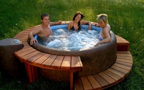 спа бассейн на даче