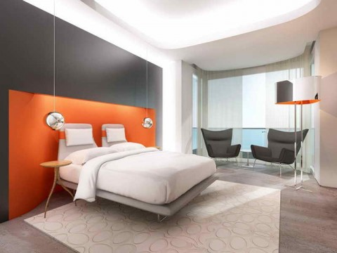 Cool-Painting-Designs-for-Rooms-with-Orange