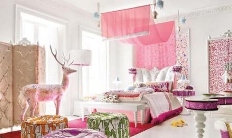 Яркие решения детской спальни