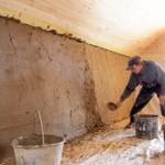 как штукатурить стены глиной