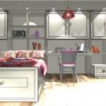 Стиль коттедж для небольшой спальни