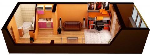 Преимущества квартиры студии