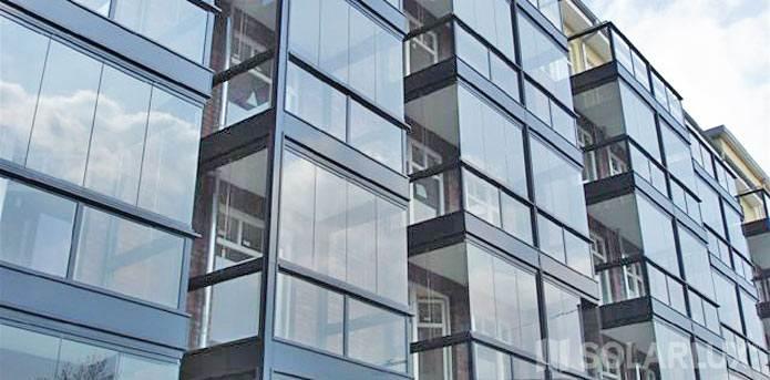 Применение алюминия в остеклении лоджий и балконов.