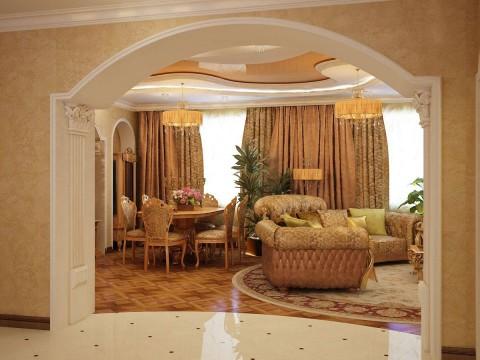 Гипсокартон в интерьере квартиры арка