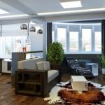 Интерьер квартиры студии и планировка