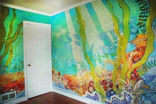 Акриловая краска для рисунков на стен