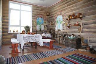 интерьер кухнив русском стиле