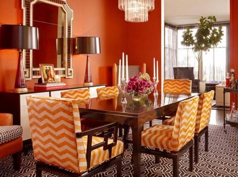 оранжевый цвет в дизайне