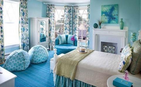 Спальня В Голубых Тонах - Оригинальные Идеи Интерьера, Возможные within Голубая Спальня