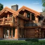 дом из лиственницы фото